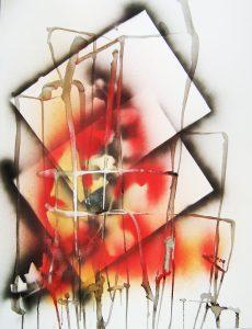 sessin, graphisme, encre, acrylique