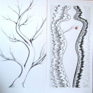 dessin, graphisme, encre