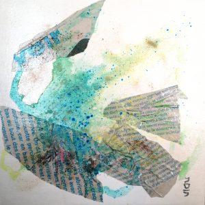 peinture, collages, acrylique, pigments