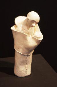 sculpture, terre cuite, émail