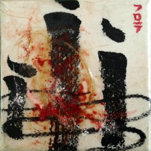 peinture, acrylique, encre, collage, pigments
